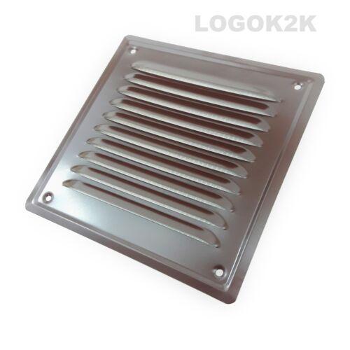 Metal Louvre Air Vent Grille Capot métal conduit de ventilation blanc marron noir gris