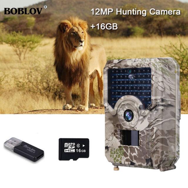 16GB 12MP Hunting Camera 1080P Wide Angle Wild Scouting Hunter Trail Camera