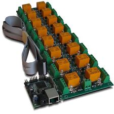 Ethernet 16 CH Relay Module, Board for Home Automation - SNMP, Web, IP, LAN