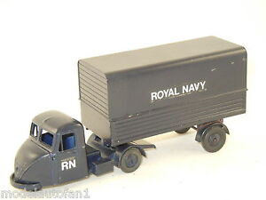 Scammel-Scarab-amp-Trailer-034-Royal-Navy-034-van-Budgie-Toys-England-710