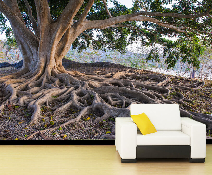 3D Tree Strong Root 069 WallPaper Murals Wall Print Decal Wall Deco AJ WALLPAPER