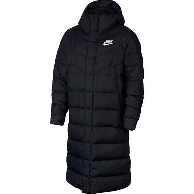 nike long down padded jacket