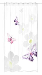 Details zu Kinderzimmer Gardine Butterfly 140x245cm Vorhang verdeckte  Schlaufen Schal lila