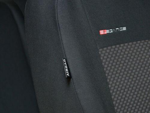 Set Completo Cubiertas de Asiento de Coche Apto Nissan Qashqai 2006-2013 Gris Carbón