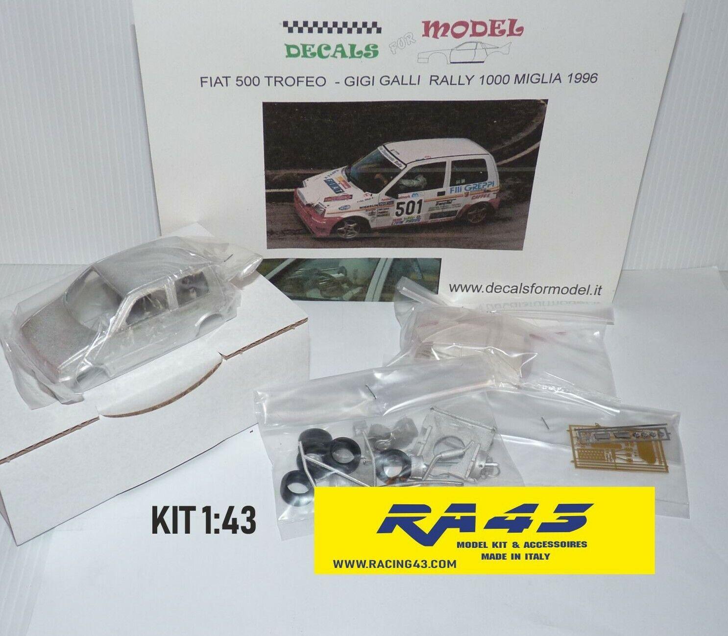 bajo precio del 40% 1 43 Fiat 500 Cinquecento Rally Rally Rally Mille Miglia 1996 Galli Kit  Venta en línea de descuento de fábrica