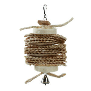 Bird-Toy-Natural-Loofah-Corn-Leaf-Twist-String-Parrot-Bite-Parrot-Supplies-MH