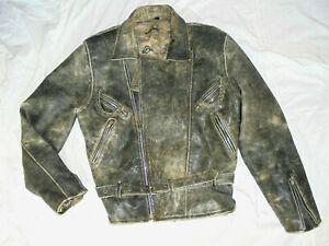 Herren-Bikerjacke-Motorradjacke-Lederjacke-Rocker-Mens-Leatherjacket-Gr-M-L-52