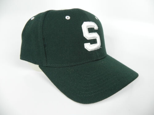 MICHIGAN ST STATE SPARTANS NCAA VINTAGE FITTED SIZED ZEPHYR DH CAP HAT NWT!
