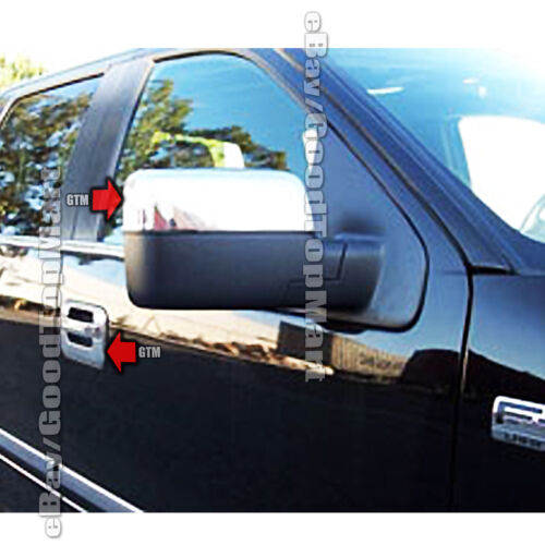 Chrome Top Half Mirror 2 Doors handles covers k pad for FORD F-150 XLT//FX4 04-08