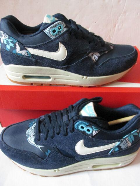 Nike Air Max 1 Print Midnight Navy Aloha WMN Size 7 528898 401