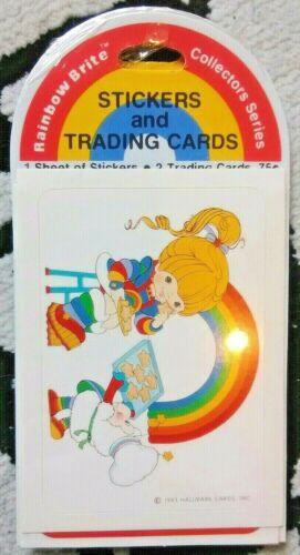 new//sealed vtg 1983 RAINBOW BRITE stickers /& trading cards hallmark C3 retro