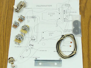 Jazzmaster-Pot-Switch-Slider-Bracket-Cap-Wiring-Kit-for-Fender-Guitar-Diagram