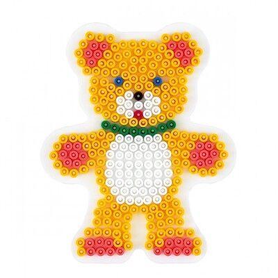 HAMA midi Bügelperlen-Stiftplatte weiß Nr.289 Teddybär