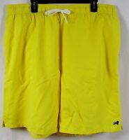Old Navy Mens Basic Yellow Swimming Trunks Size Xxl Elastic Waist
