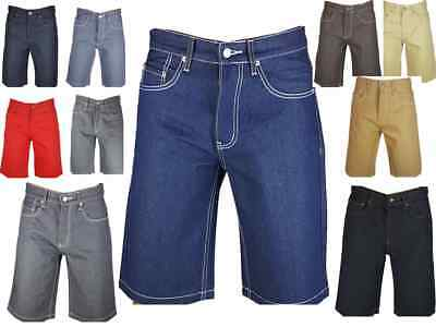 MEN DENIM JEAN SHORT STRAIGHT FIT DISTRESSED RIPPED 3 COLORS SIZE 32-44