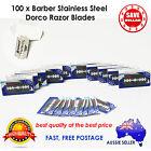 100pc Dorco Double Edge Razor Blade Barber Safety Shaving Knife Stainless Steel