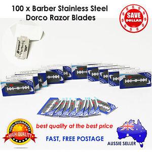 100pc-Dorco-Double-Edge-Razor-Blade-Barber-Safety-Shaving-Knife-Stainless-Steel