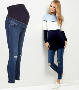 b87a669a11fed NEW LOOK Maternity Over Bump Ripped Jeans, Pregnancy Skinny Jeggings ...