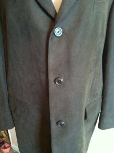 3 Size Excellent Suede 43r Mens Faux Condition Alfani Blazer Button TwqvnIawx