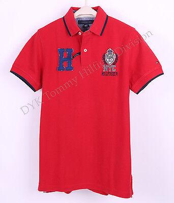 Tommy Hilfiger Men Logo Pique Mesh Pieced Polo Shirt Custom Fit - Free $0 Ship