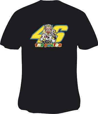 Valantino Rossi 46 The Doctor Style Motorcycle Printed T Shirt in 6 Sizes