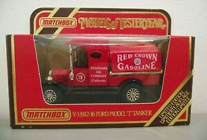 Matchbox Yesteryear Y3 Ford T 'RED CROWN' tanker - New & Mint and boxed (MB231)