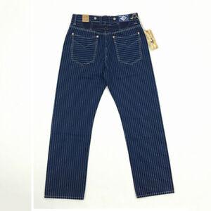BOB-DONG-Repro-WABASH-Striped-Selvage-Denim-Trousers-Vintage-Indigo-Work-Pants