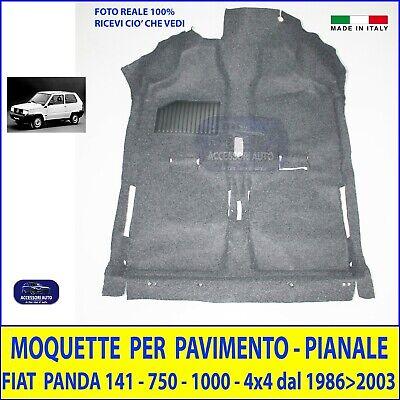 Tappetini Fiat Panda 1100 Trekking 4x4 tappeti in moquette nero 86/>2003 set grip