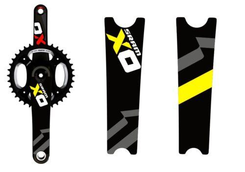 Crank Set Stickers Decals MTB SRAM X0 Mountain Bike Bicycle Adhesive 2Pcs Yellow