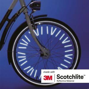 Other Cycling 1x36/2x36 Cycling Lovely Salzmann Spoke Reflector 36/72 Pack 3m Scotchlite Reflectante