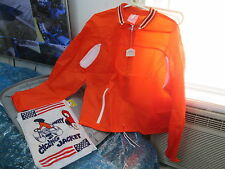 Vintage Cherry Intl Safety Cycling Jacket Orange & White Size L Made in Japan