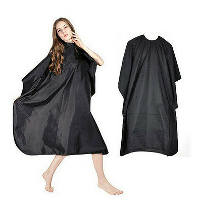 Pro Adult Black Salon Hair Hairdressing Cutting Cape Barbers Gown Cloth Cover