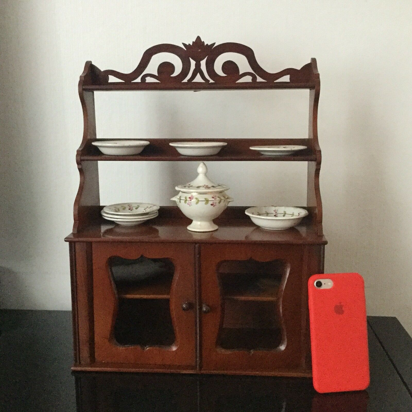 Buffet Miniature Poupée Acajou Ancien XIXè Victorian Mahogany Doll Furniture 19C