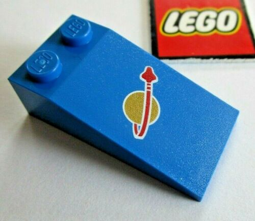 17982 LEGO Blue Slope 18° 4x2 with Classic Space Logo Decoration 47699