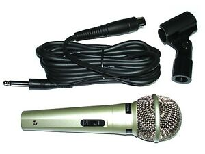 New Dynamic Uni-Directional Microphone Vocal Mic W 14 Foot Cable Cord Clip Case