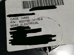 NEW-Carlisle-Thermax-M22759-11-18-9-18awg-SPC-PTFE-Milspec-Aerospace-Wire-White