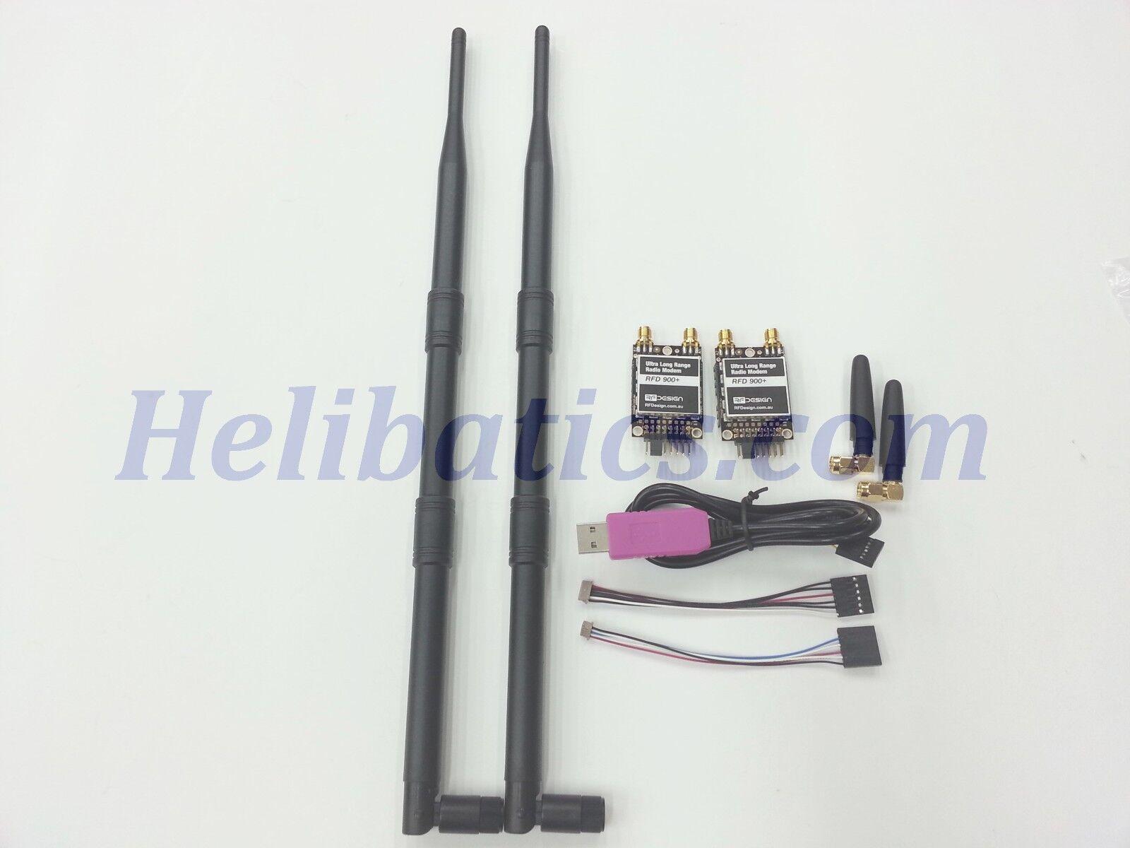 Nuevo bundleh RFD900+ radio 915MHz de largo alcance telemetría PLUS módem con la diversidad