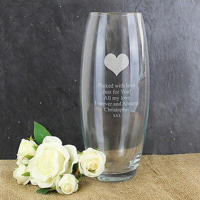 anniversaire pour son Personnalisé gravé motif coeur balle vase-anniversaire