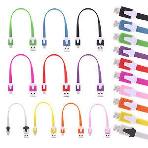 20cm-Bunt-Micro-USB-Kabel-High-Speed-Ladekabel-Datenkabel-Samsung-Sony-HTC-LG