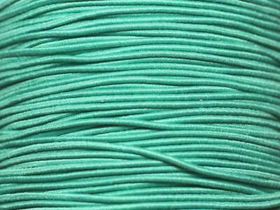 Fil Cordon Tissu Elastique 1mm Vert Turquoise Emeraude 5 mètres 874114001879