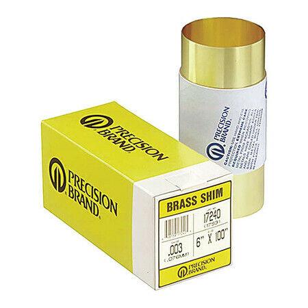 Precision Brand 17330 Shim Stock, Roll, Brass, 0.0060 In, 6 In, Length: 100