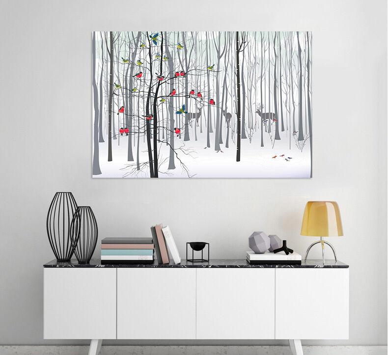 3D Hirsche, Wald 787 Fototapeten Wandbild  BildTapete Familie AJSTORE DE