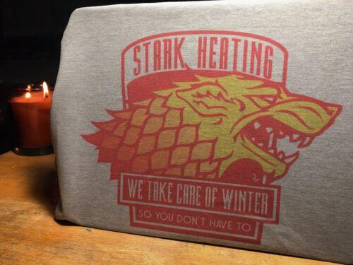 GAME OF THRONES /'STARK Riscaldamento/' T-Shirt-Got CASA STARK L/'INVERNO STA ARRIVANDO