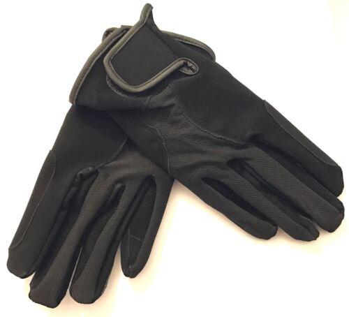 Black Suede Comfort Durable Lightweight Horse Rider Gloves