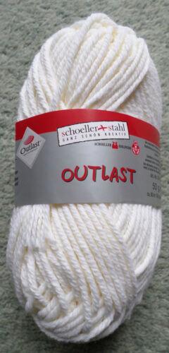 Función lana lana de punto lana Garn Schöller Stahl Outlast 50 g de crema blanco Nuevo