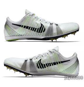 493c9f51eef7 NWT Mens Nike Zoom Victory 2 Track Spikes -White Black Volt  555365 ...