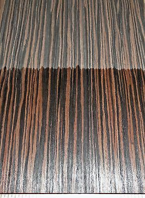 """Ebony Macassar composite wood veneer 24"""" x 96"""" with paper backer 1/40th"""" thick"""