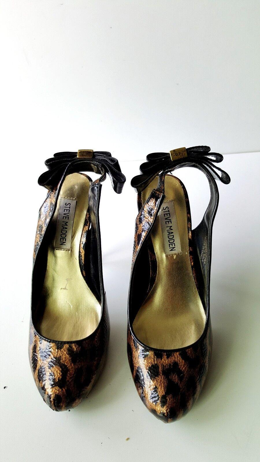 Steve Madden Damens Print High Heels Schuhes with Bow Größe 6