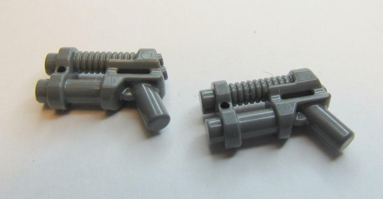 LEGO 95199 Dark Grey Minifigure Weapon Gun 2 Barrel Pistol Laser X 3
