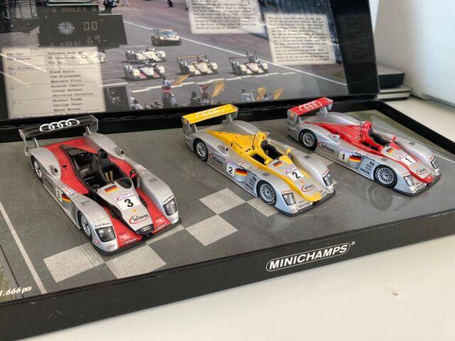 1/43 Audi R8 Le Mans 2002 Infineon Box Set Ltd Edition Minichamps Good Condition